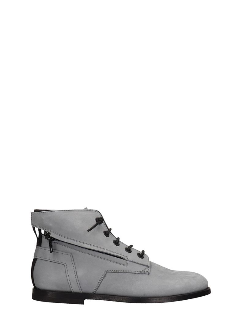 Bruno Bordese Ankle Boots In Grey Nubuck - grey