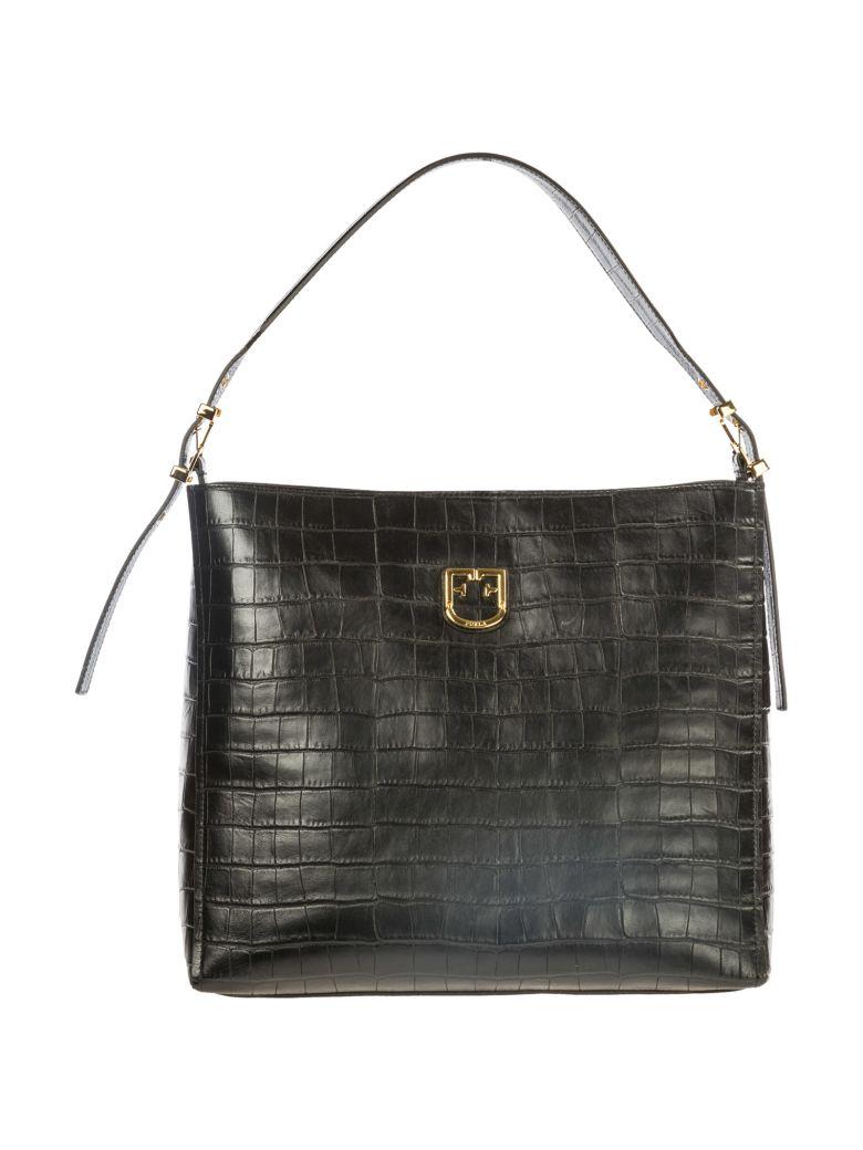Furla  Leather Shoulder Bag Belvedere - Black
