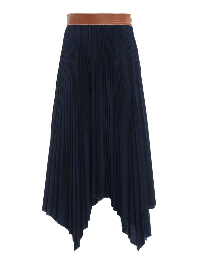 Loewe Pleated Skirt - Navy Blue