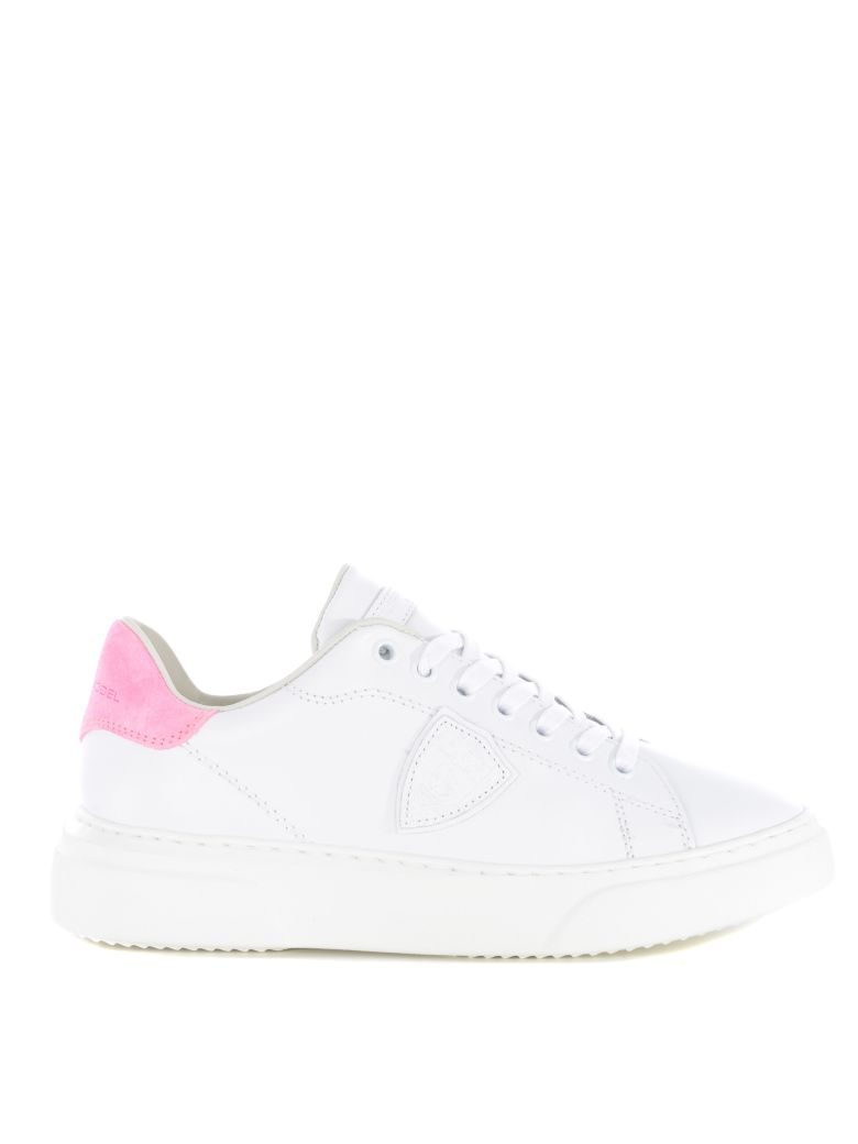 Philippe Model Logo Patch Sneakers - White