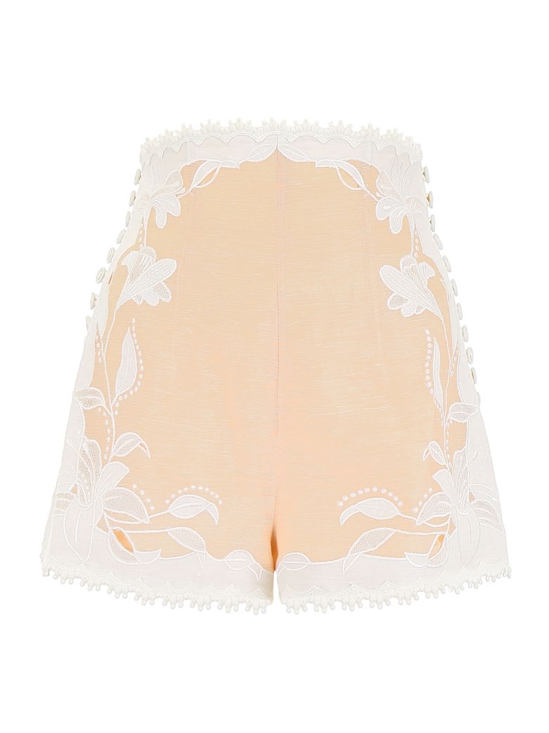 Zimmermann Lily Shorts - NUDE|Rosa