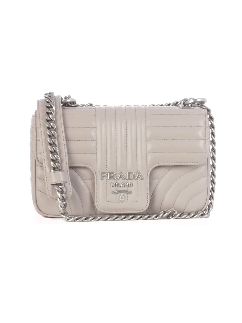 Prada Matelassé Shoulder Bag - Pomice