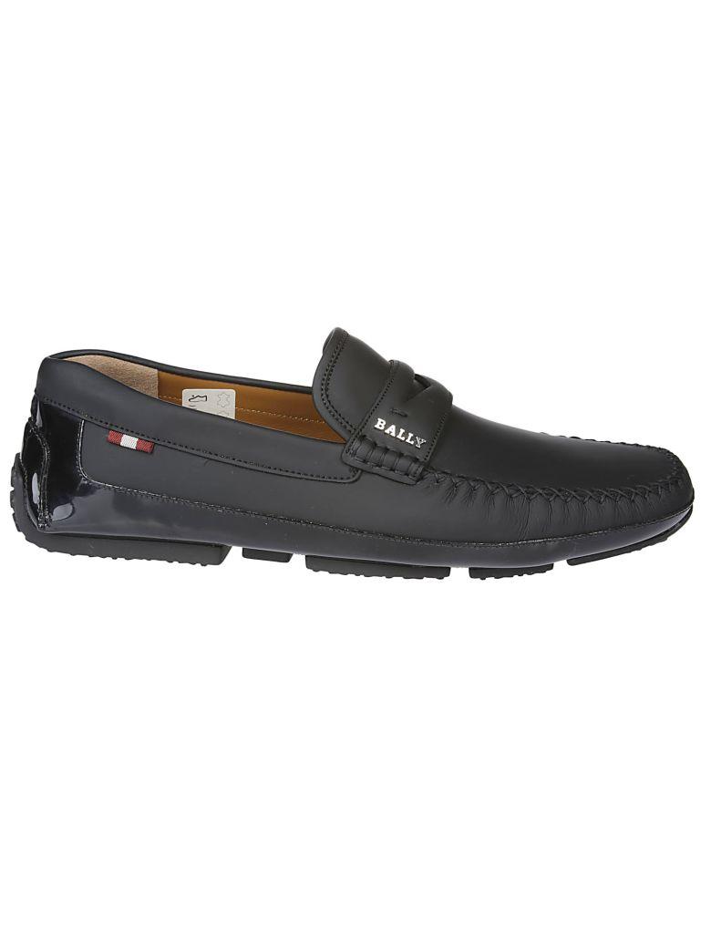 Bally Logo Loafers - Black