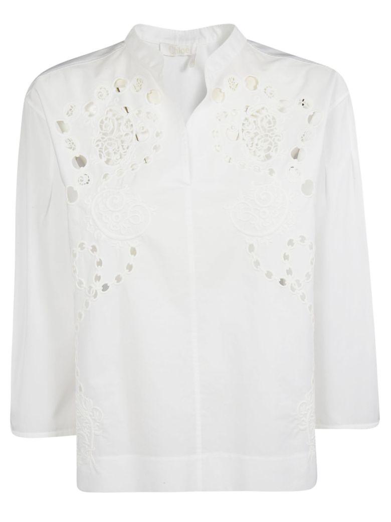 Chloé Cut-out Detail Blouse - White