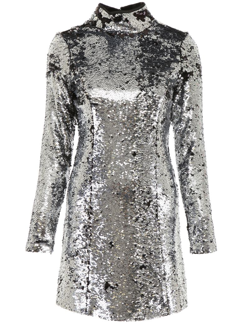 In The Mood For Love Sequins Cassandra Mini Dress - SILVERBLACK (Silver)