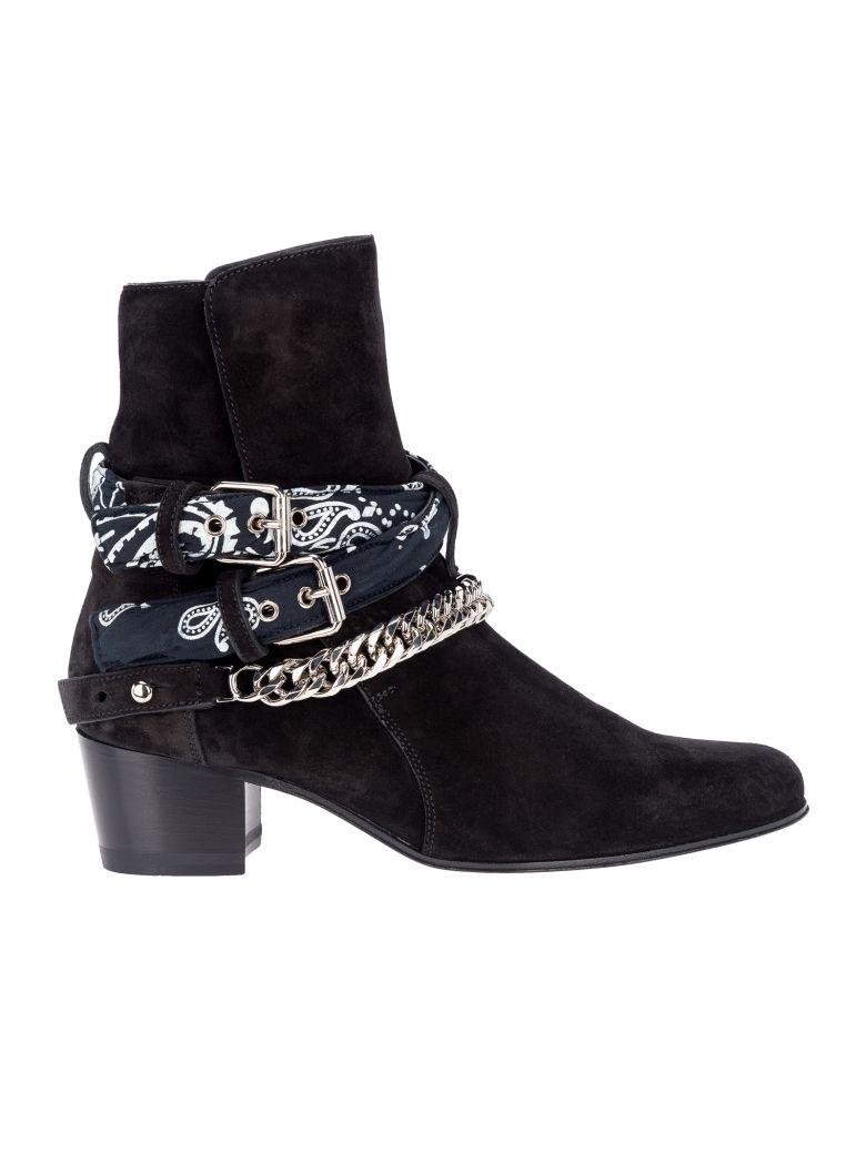 Amiri Amiri Bandana Buckle Boot Black 10707307 Italist