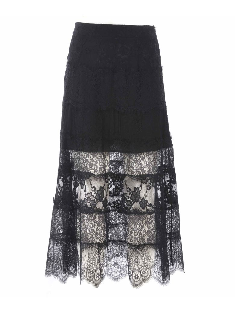 McQ Alexander McQueen Lace Skirt - Nero