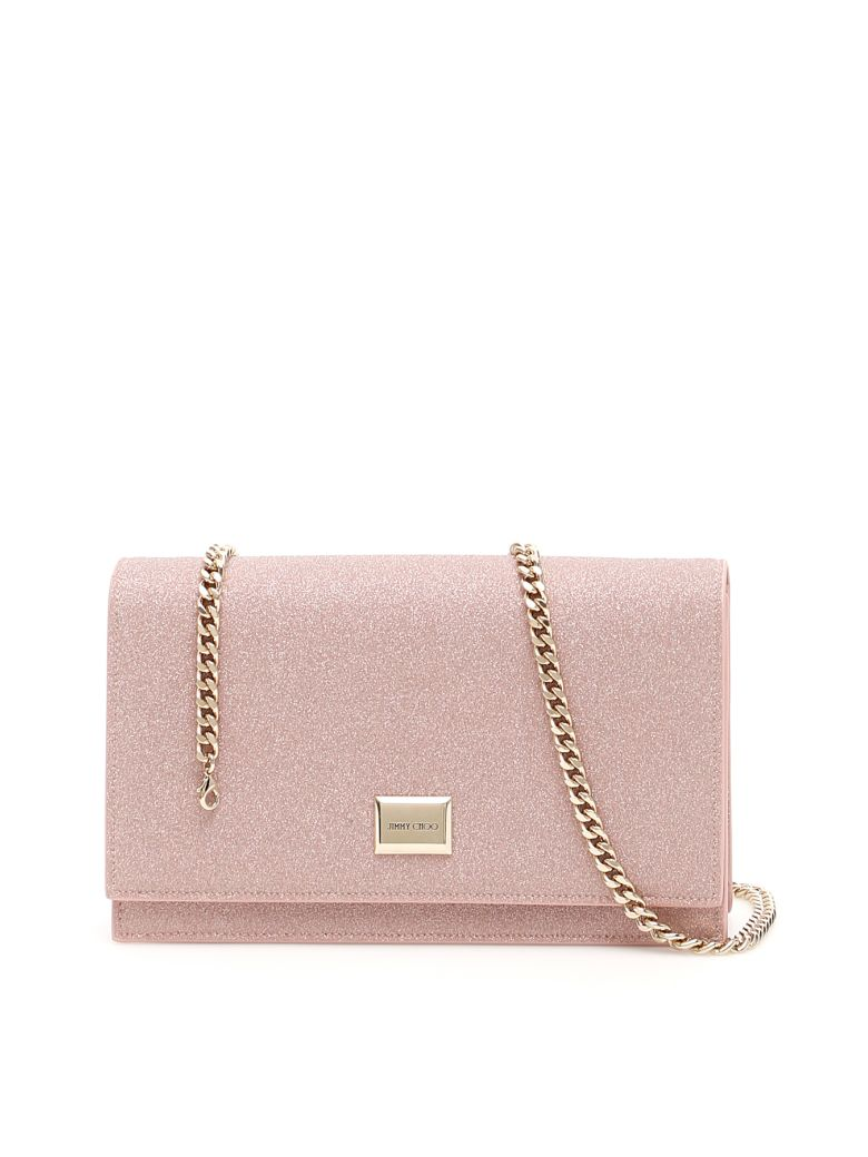 Jimmy Choo Glitter Lizzie Clutch - BALLET PINK (Pink)