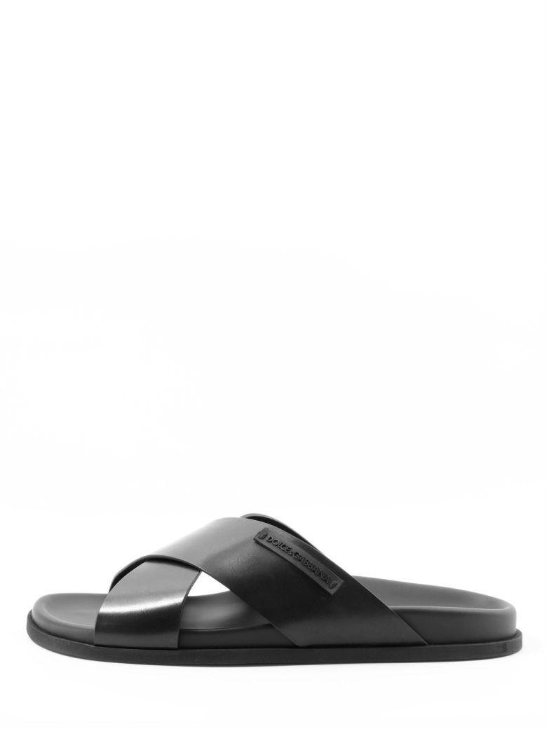 Dolce & Gabbana Sandal Black Leather - Black