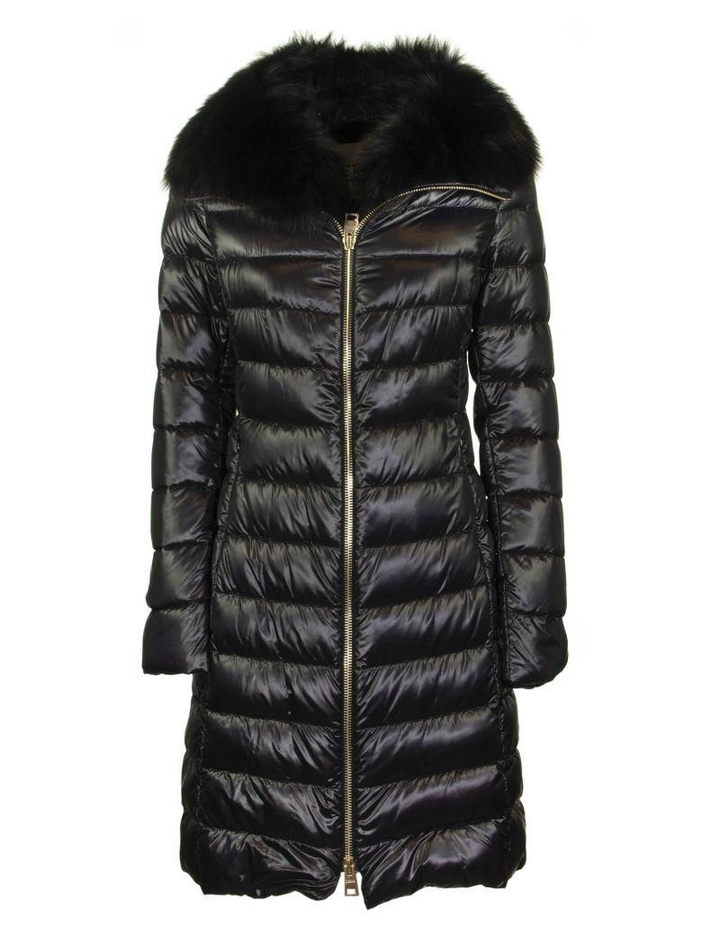 Herno Long Elisa Down Jacket With Fur - Black