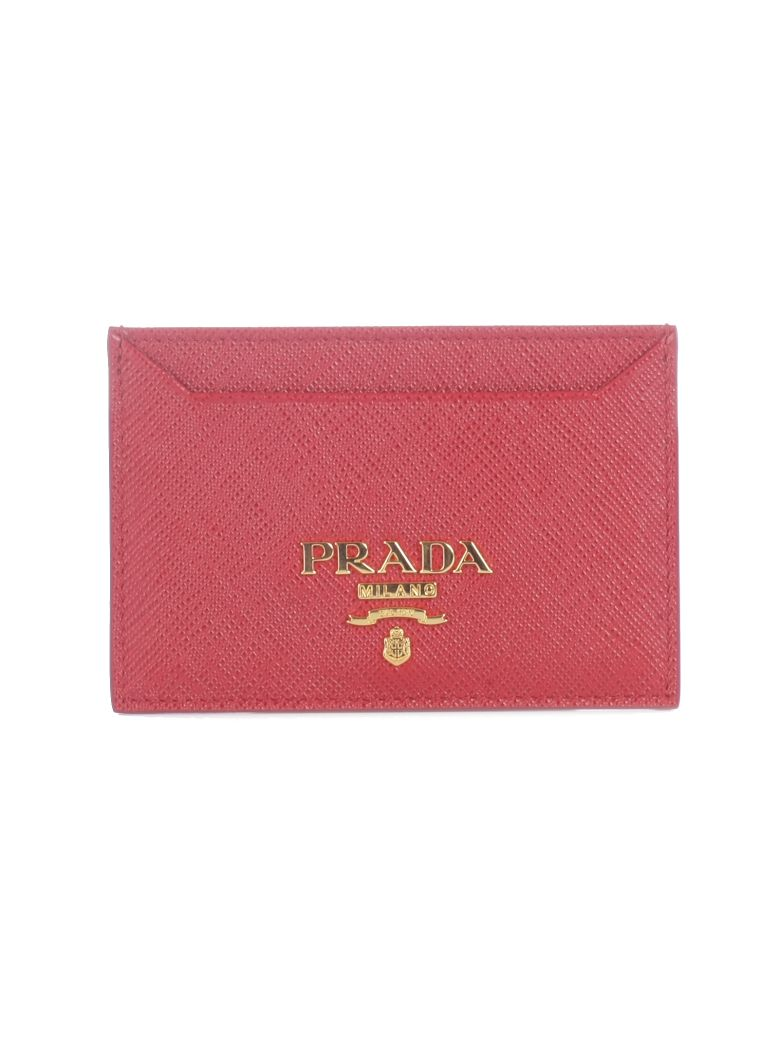Prada Saffiano Card Holder - F068z Fuoco
