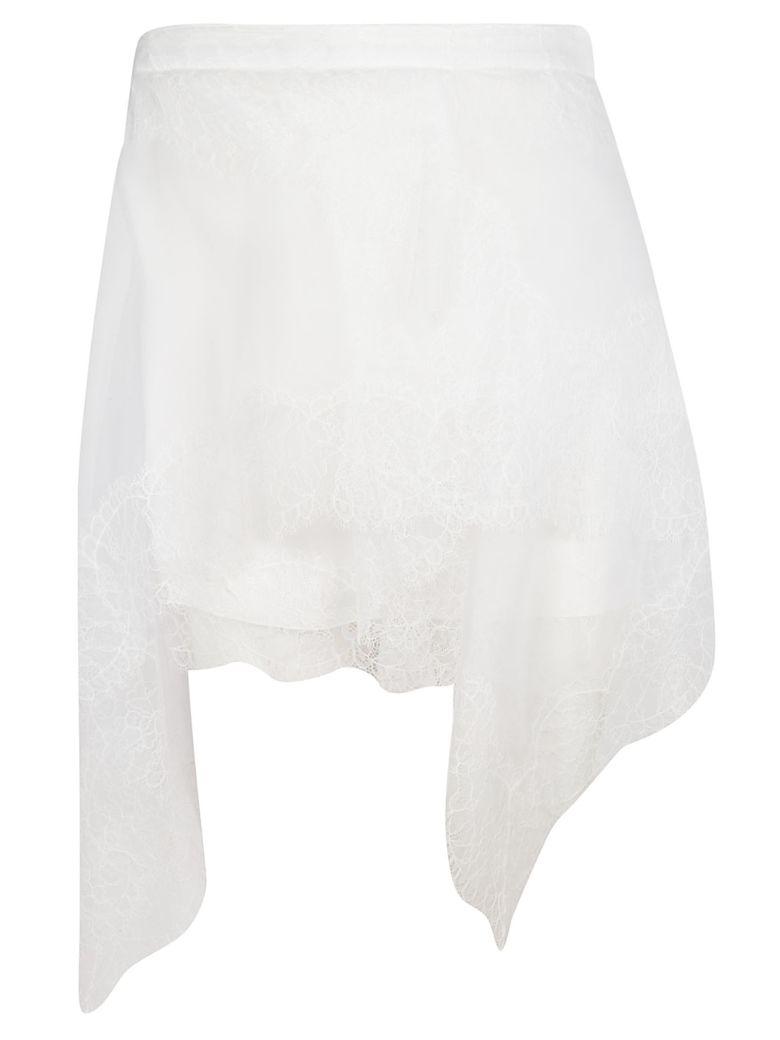 Ermanno Scervino Floral Lace Skirt - White
