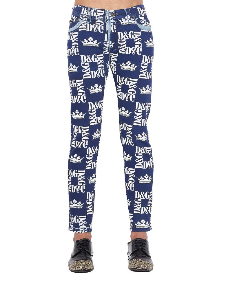 Dolce & Gabbana 'dg Corone' Jeans - Blue