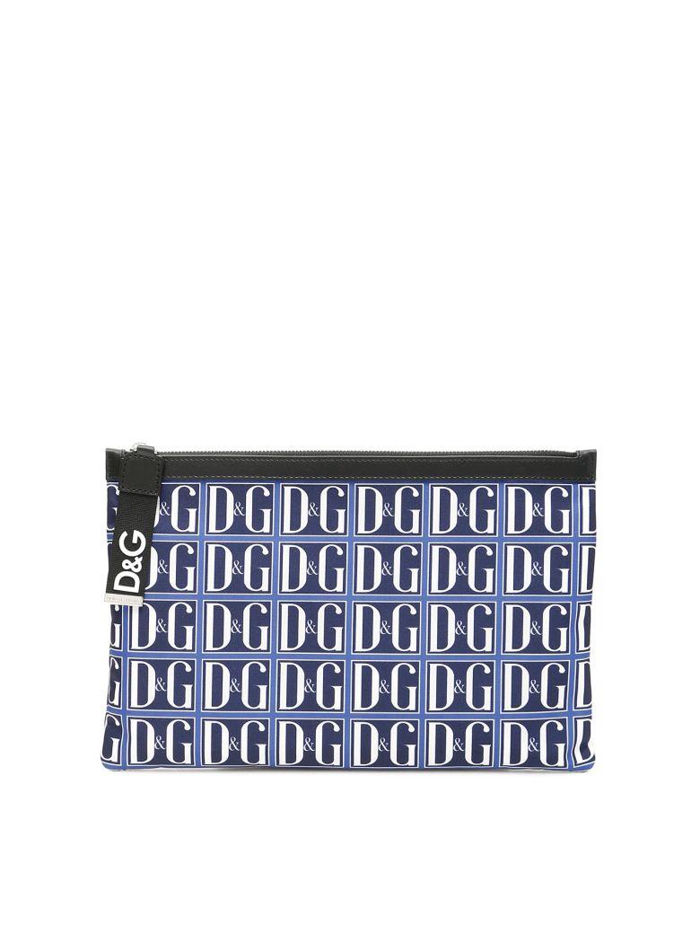 Dolce & Gabbana D&g Logo Flat Pouch - DG GRAFICO F BLU (Blue)
