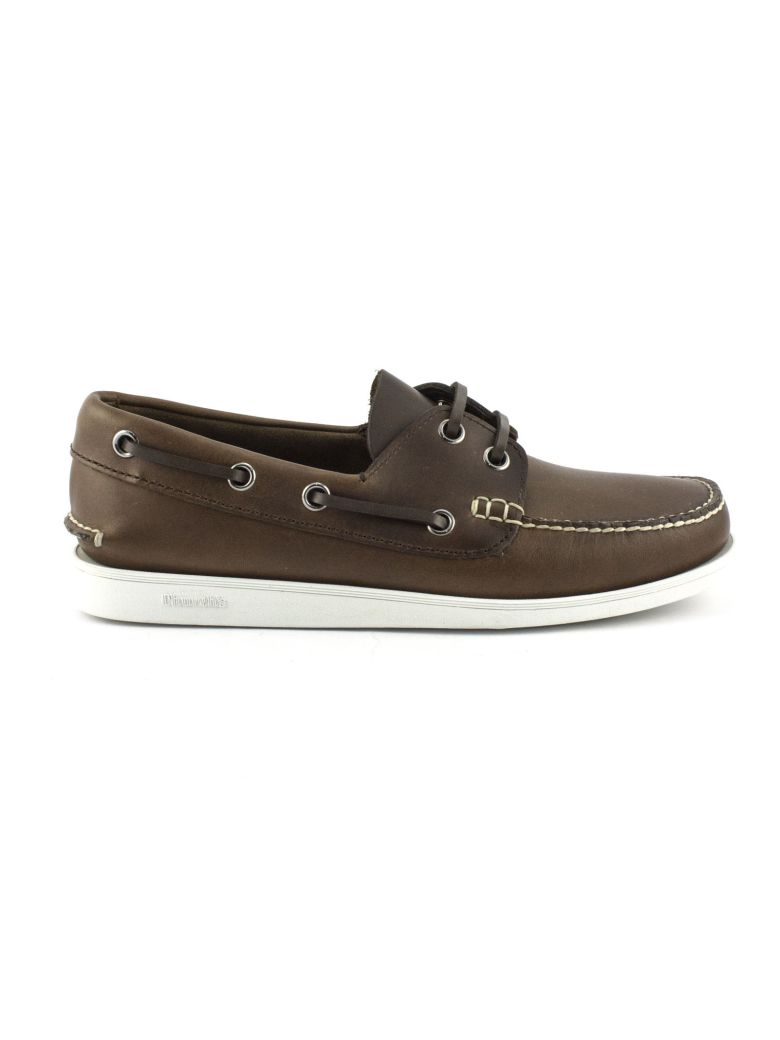 Church's Brown Leather Boat Shoe - Marrone
