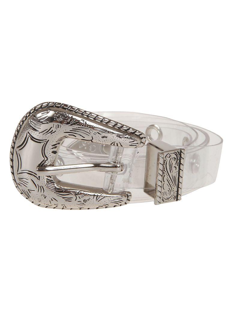 B-Low the Belt Transparent Belt - Clear Silver