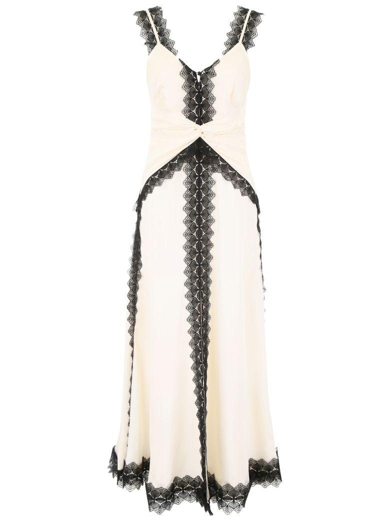 self-portrait Dress With Lace Inserts - CREAM BLACK