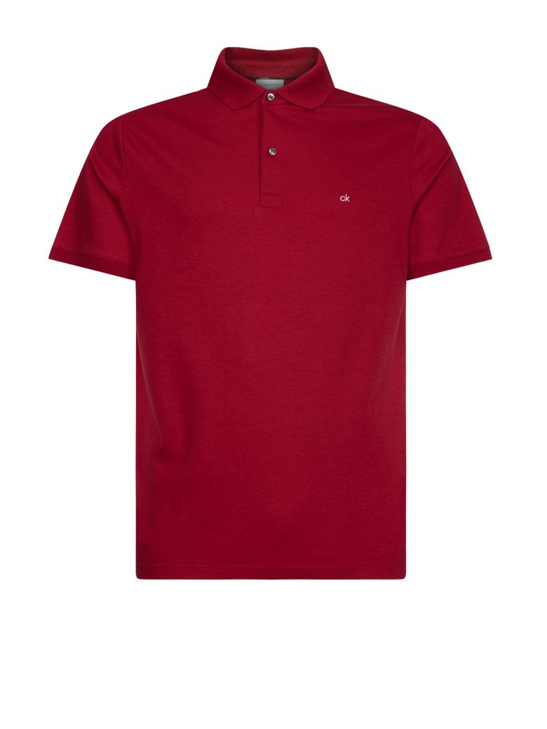 Calvin Klein Calvin Klen Red Cotton Ck Polo - ROSSO