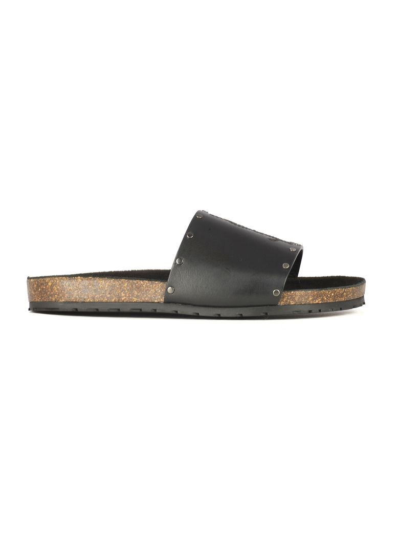 Saint Laurent Jimmy Sliders - Black