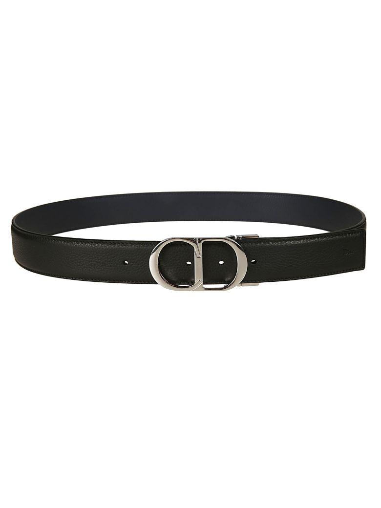Christian Dior Decorative Buckle Belt - Black