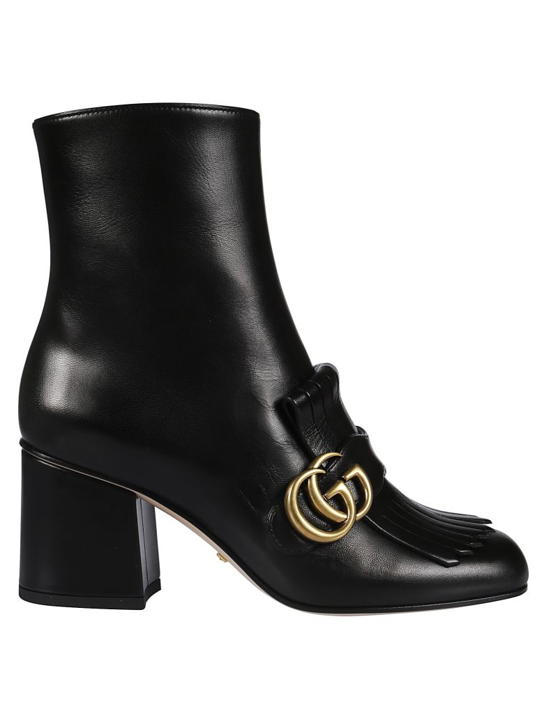 Gucci Fringed Ankle Boots - Black