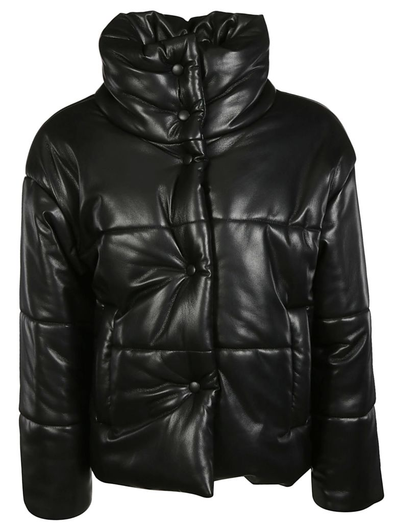 Nanushka Hide Vegan Puffer Jacket - Black
