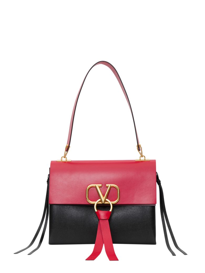 Valentino Garavani Vring Shoulder Bag - Black