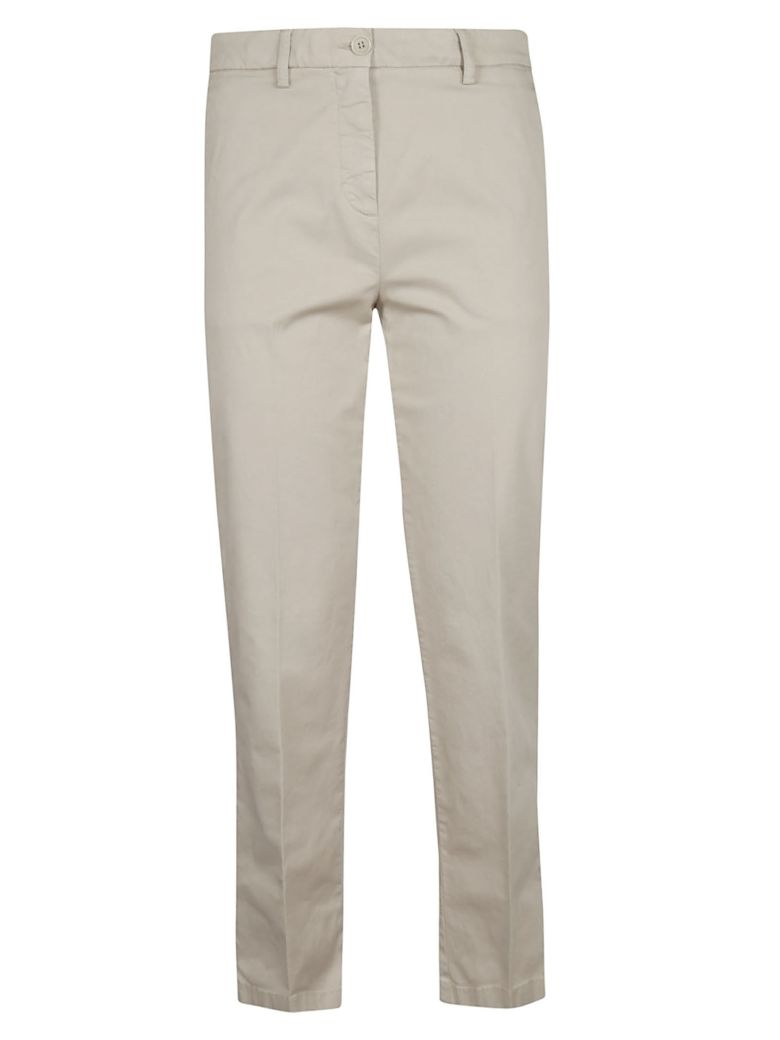 Aspesi Cropped Slim-fit Trousers - Beige
