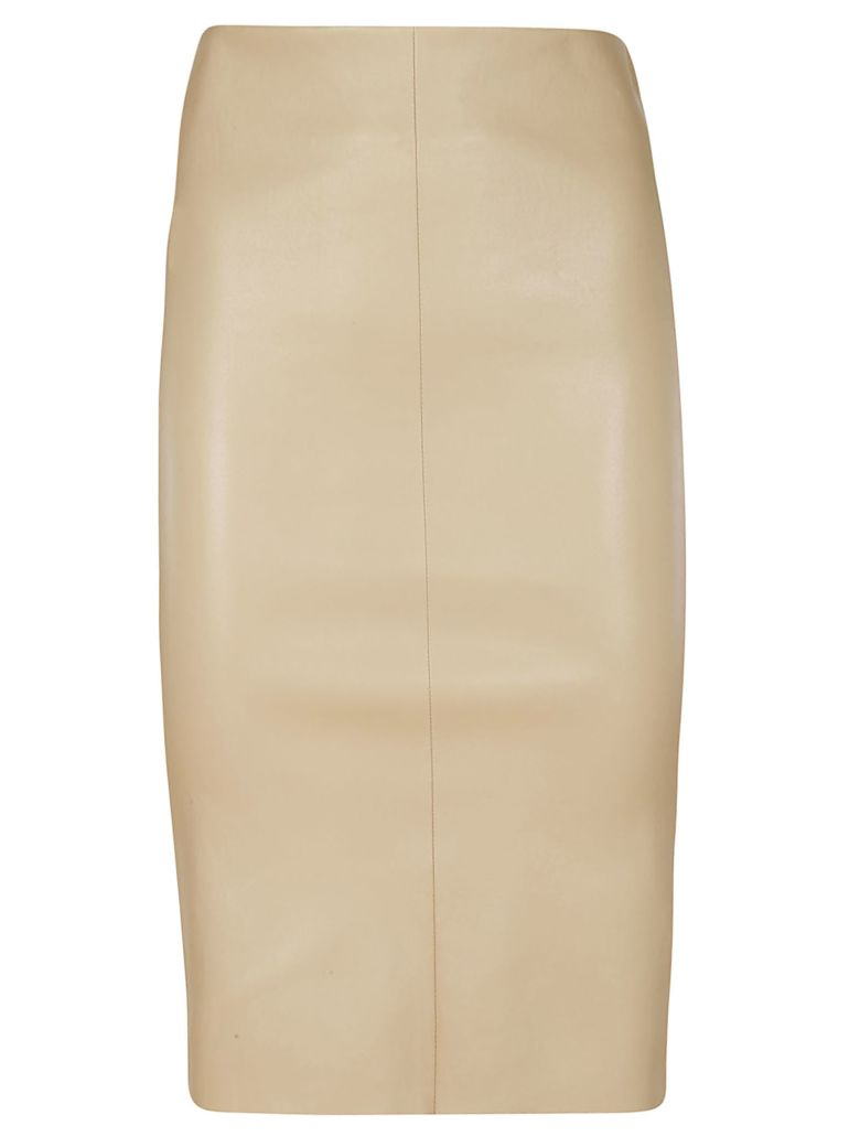 DROMe Fitted Midi Skirt - Brown