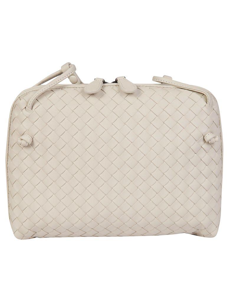 Bottega Veneta Leather Shoulder Bag - Mist/brunito