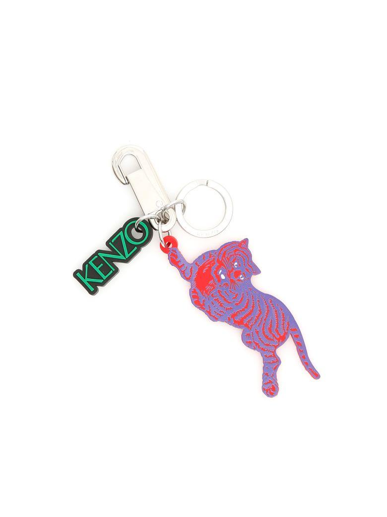 Kenzo Unisex Tiger Key Charm - ROUGE MOYEN Rosso