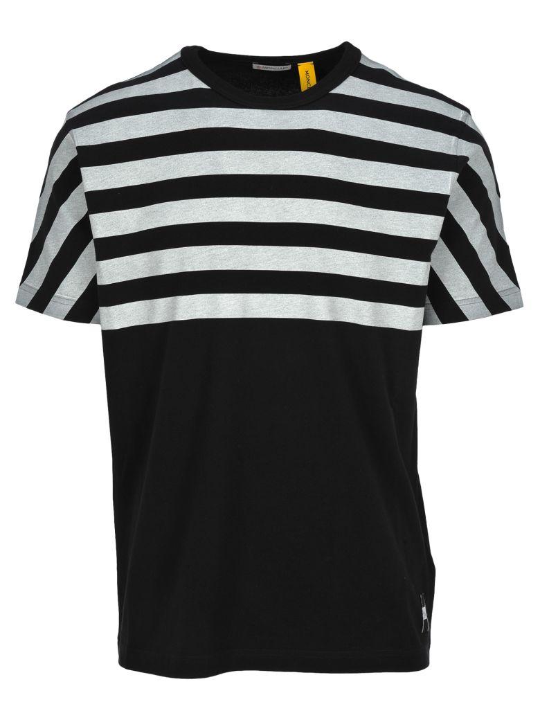 Moncler Fragment Moncler Fragment Striped T-shirt - BLACK