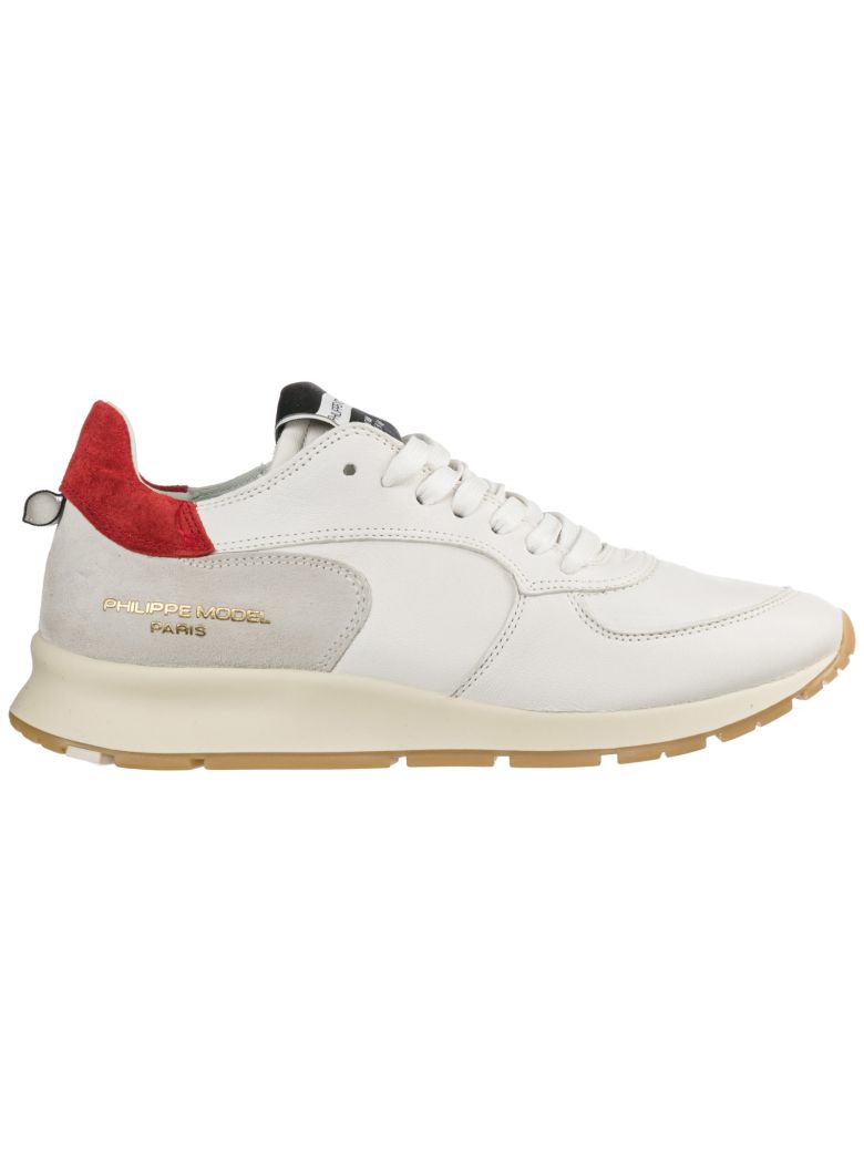 Philippe Model  Shoes Leather Trainers Sneakers Montecarlo - White