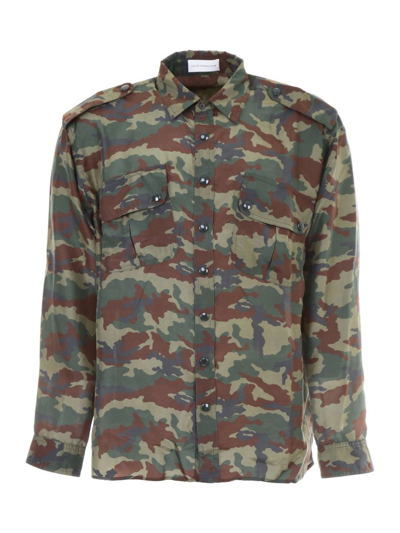 Faith Connexion Unisex Camo Shirt - ARMY KAKI|Verde