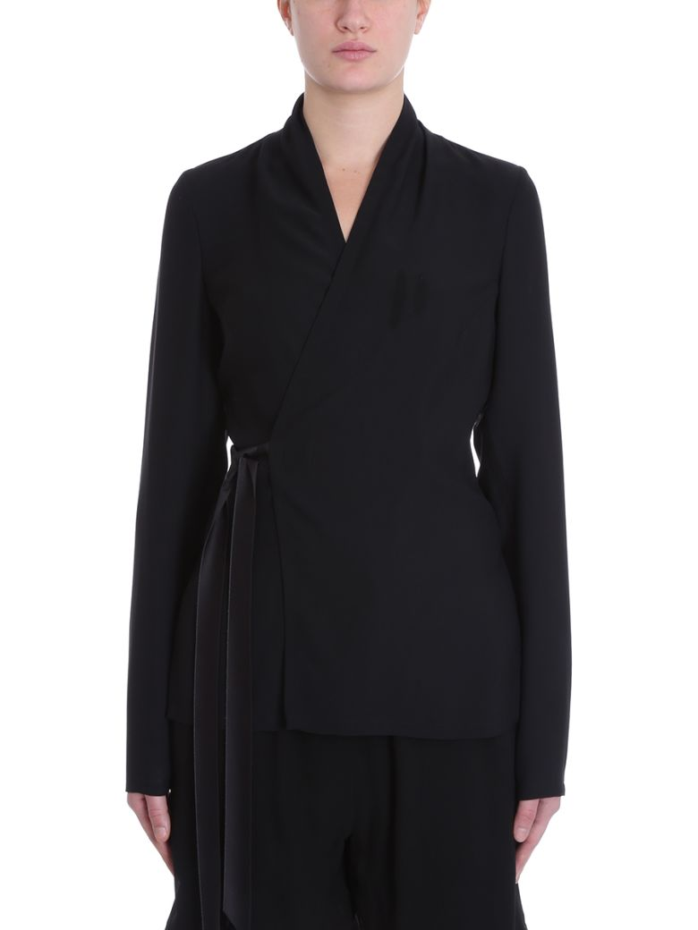Rick Owens Wrap Effect Blouse - black