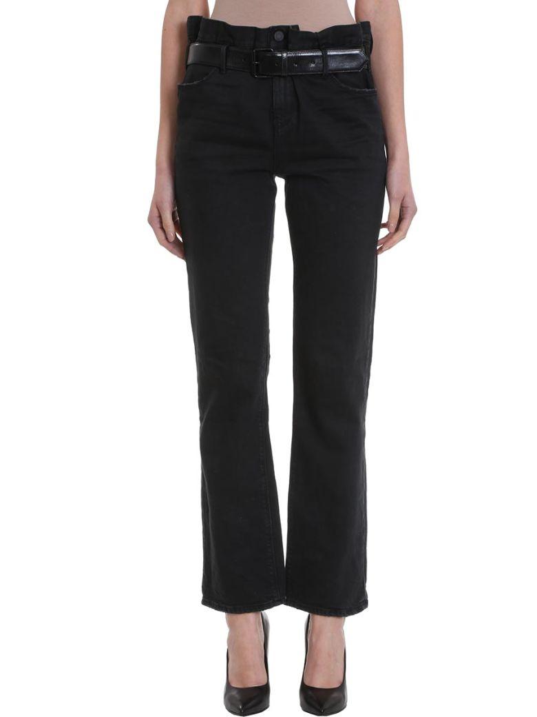 RTA Belted Straight-leg Jeans - Black