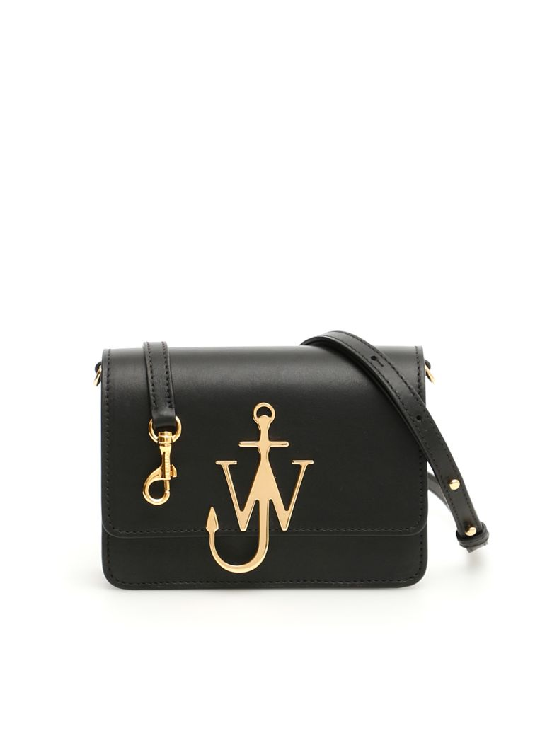 J.W. Anderson Leather Logo Purse - BLACK GOLD (Black)