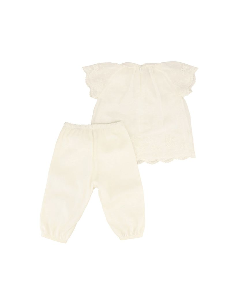Chloé Shirt And Trouser Suit - White