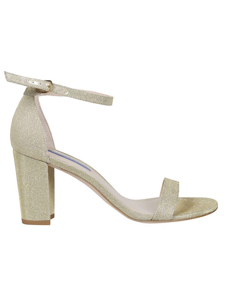 Stuart Weitzman Nearly Nude Embellished Sandals - Gold