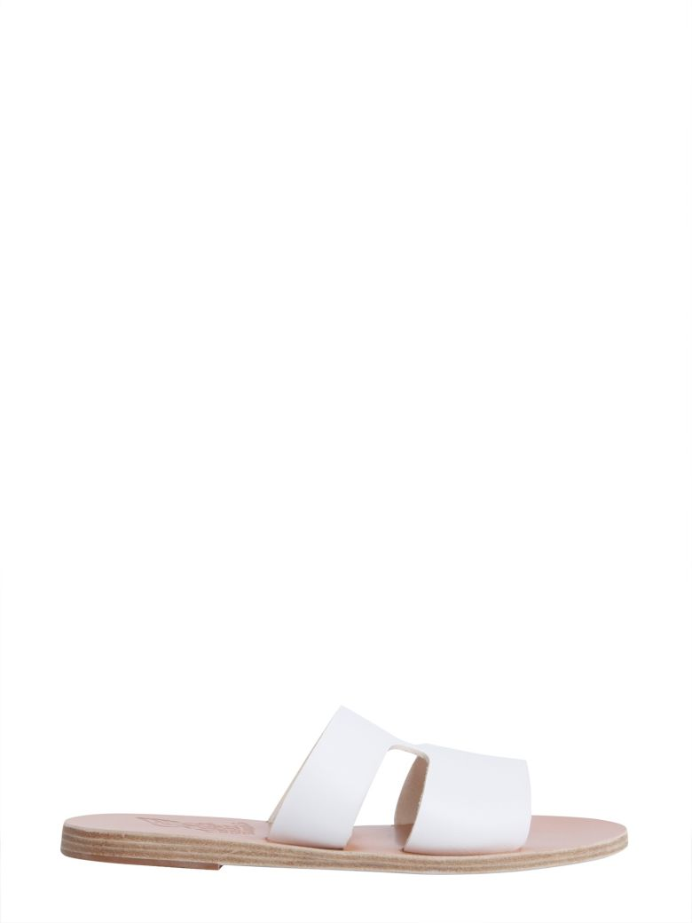 Ancient Greek Sandals Apteros Slide Sandals - BIANCO