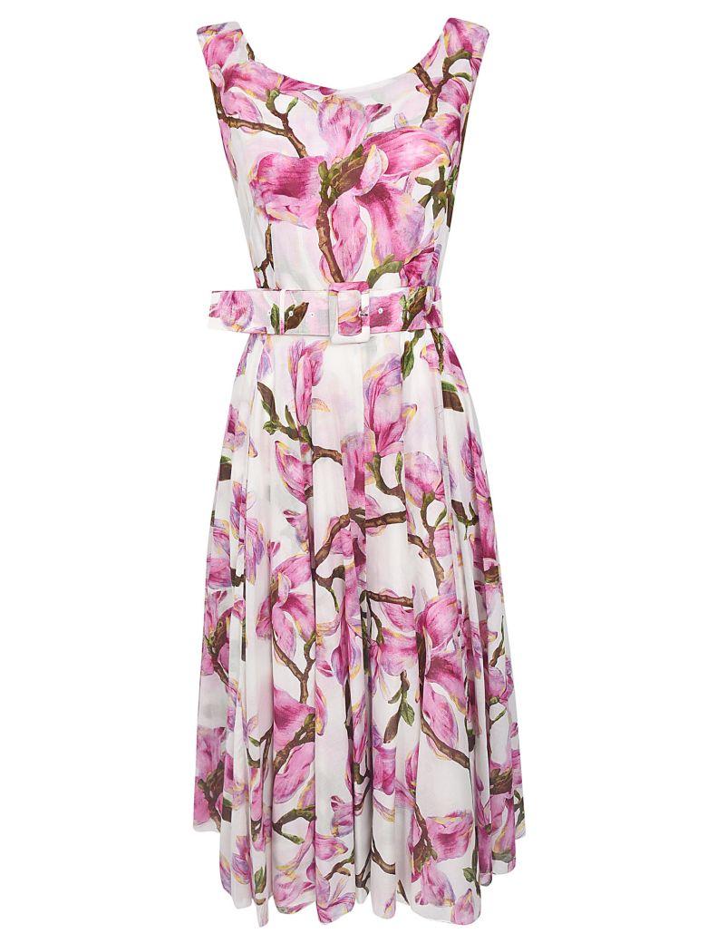 Samantha Sung Aster Floral Print Sleeveless Dress - White/Pink