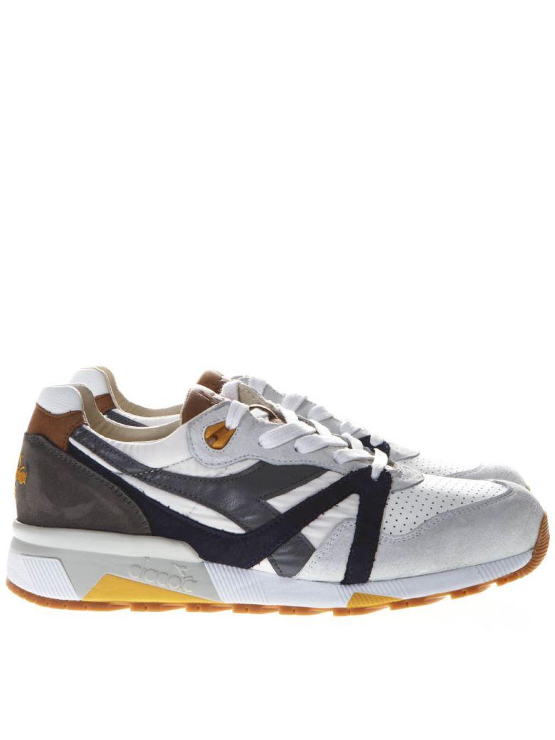 Diadora Sneakers TRIDENT 90 NYL WHITE & GRAY NYLON & SUEDE SNEAKERS