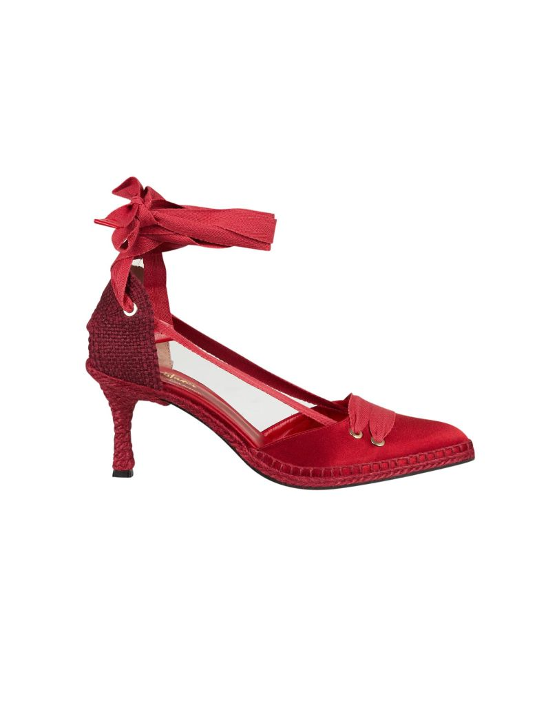 Castañer by Manolo Blahnik Castaner Medium High Heel Sandals - Rosso