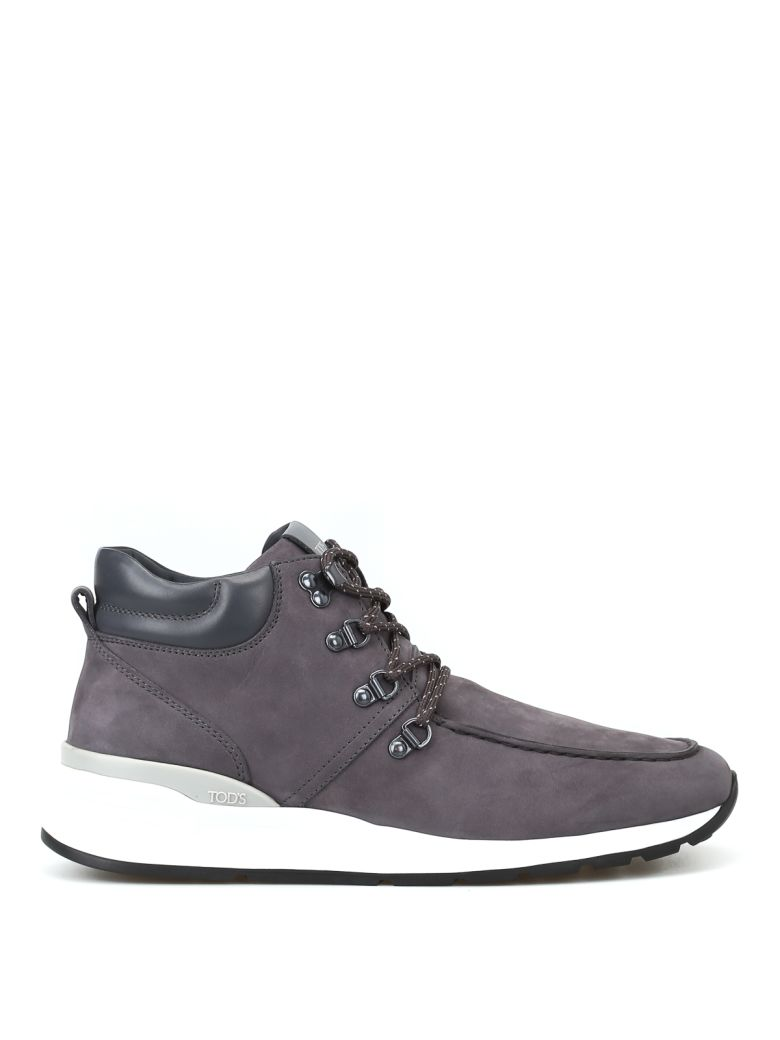 Tod's Ankle Boots In Nubuck - Gray
