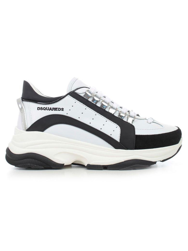 Dsquared2 Sneakers Calf Rubber - Bianco Nero