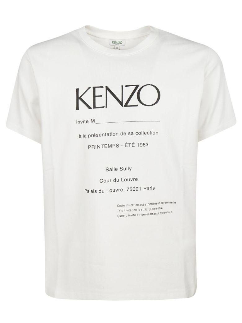 Kenzo Invitation Print T-shirt - White