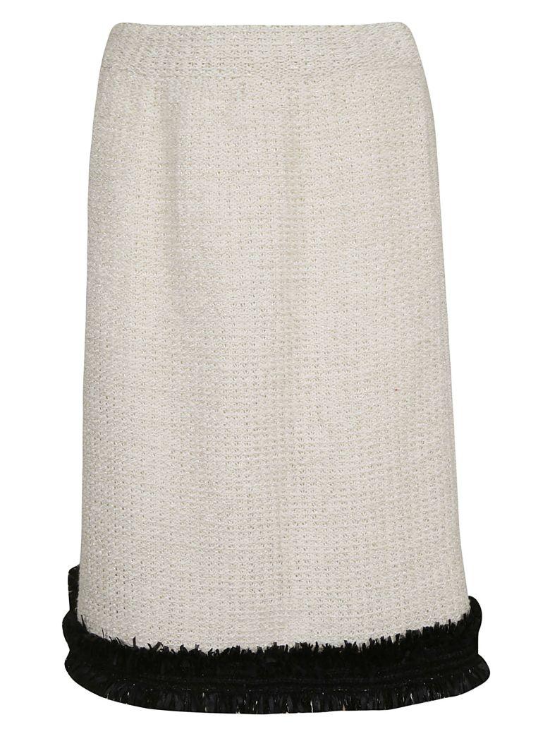 Charlott Knitted Skirt - Beige Lurex