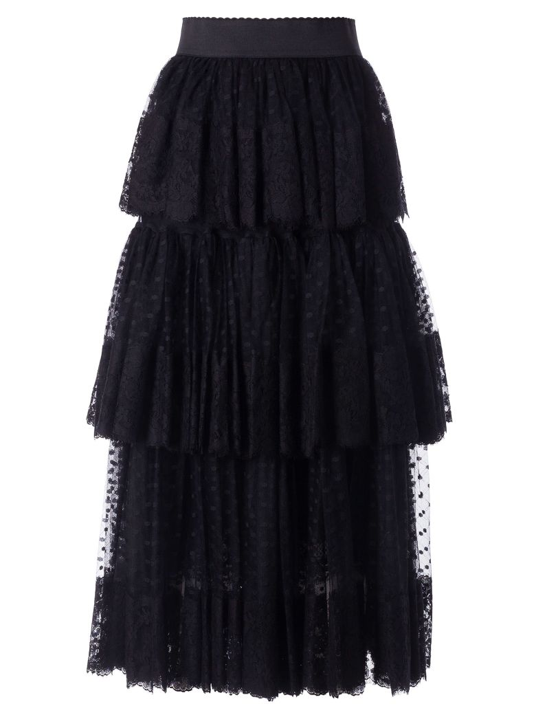 Dolce & Gabbana Layered Skirt - Nero