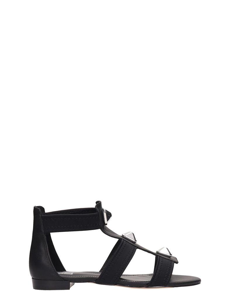 Bibi Lou Black Leather Sandals - Black