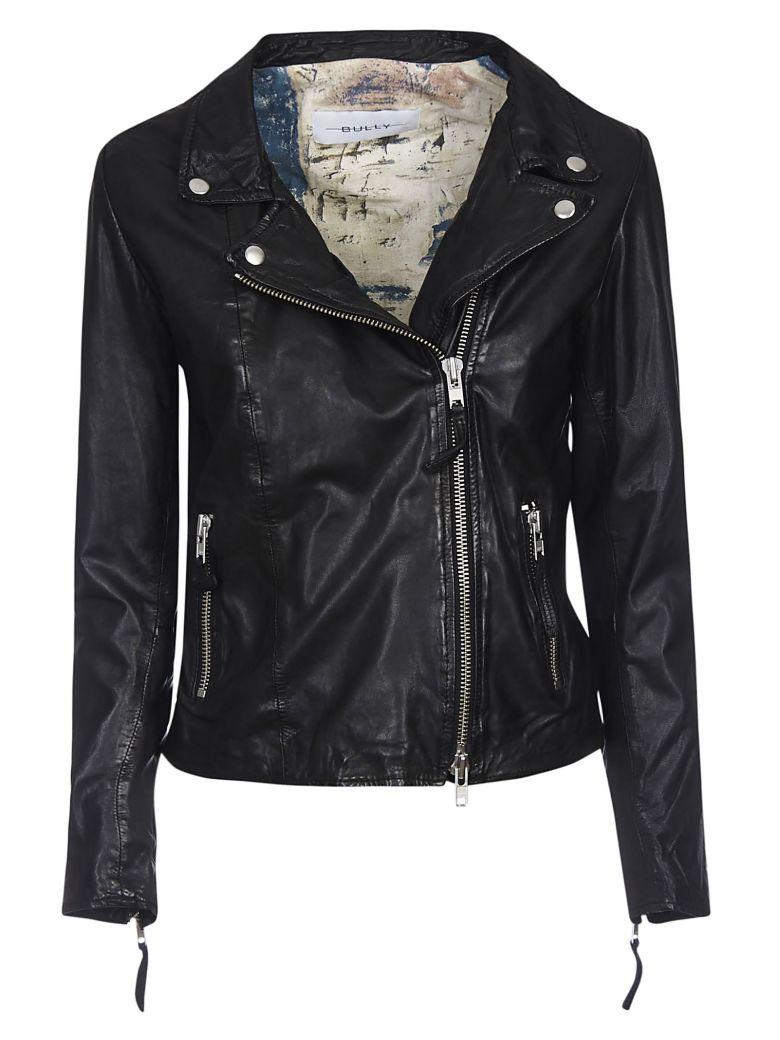 Bully Zipped Leather Jacket - Black